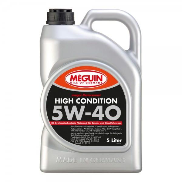 Meguin megol Motorenoel High Condition 5W-40 - 5 Liter