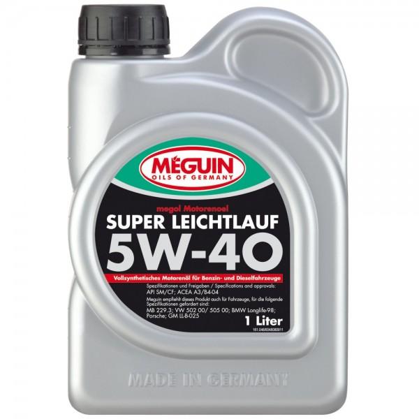 Meguin megol Motorenoel Super Leichtlauf SAE 5W-40 (vollsynthetisch) - 1 Liter
