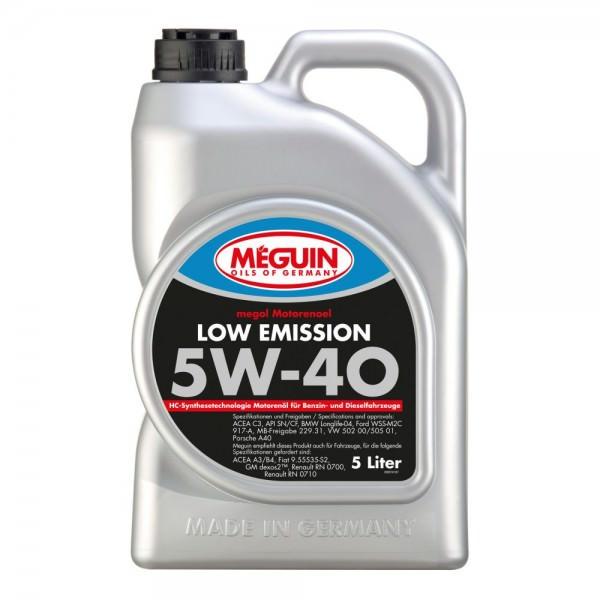 Meguin megol Motorenoel Low Emission 5W-40 - 5 Liter