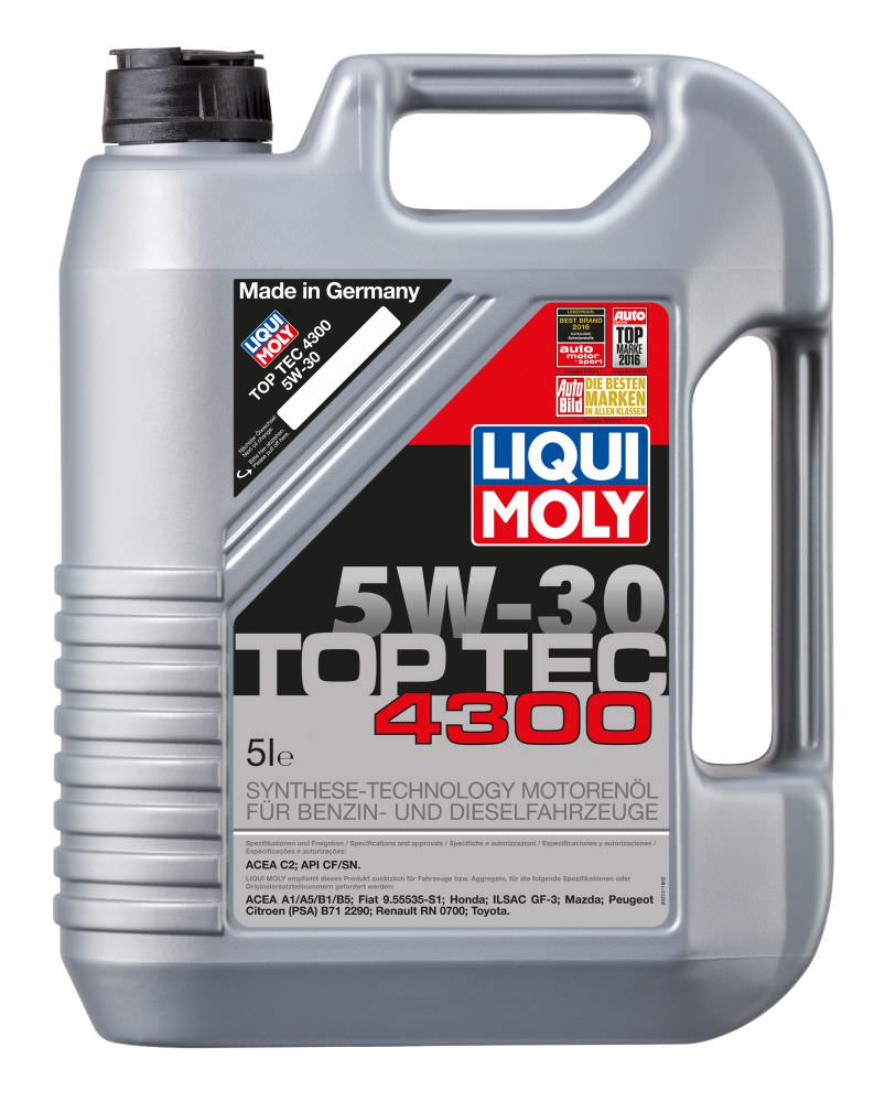 liqui moly top tec 4300 5w 30 motor l pkw online l kaufen. Black Bedroom Furniture Sets. Home Design Ideas
