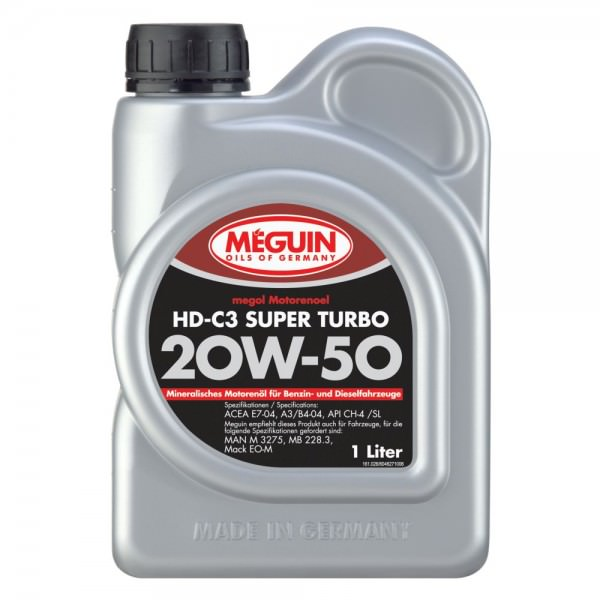 Meguin megol Motorenoel HD-C3 Super Turbo 20W-50